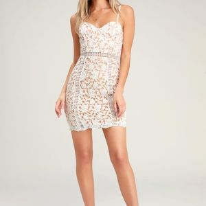 Lulus white lace dress NWT!